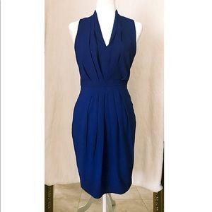 Royal Blue Accordion Accent Sheath Dress | US4*